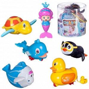 Игровой набор Junfa заводные игрушки для ванной 6 фигурок в тубе51