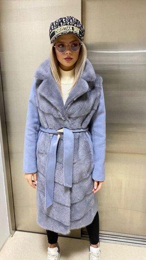 Арт. 311025 Пальто кашемировое с импортной норочкой