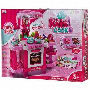 Игровой набор Junfa Кухня многофункциональная большая, розовая139