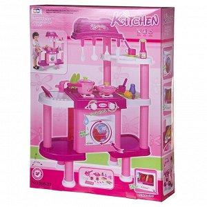 Игровой набор Junfa Кухня многофункциональная со стиральной и посудомоечной машинами, 3в191