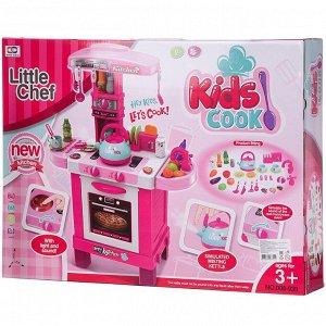 Игровой набор Junfa Кухня многофункциональная, розовая134