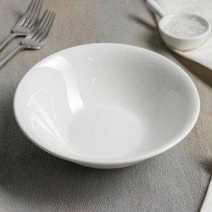 Тарелка глубокая White Label, d=17,5 см, цвет белый