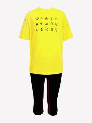 Костюм спортивный:футболка и бриджи облегающие со средней посадкой