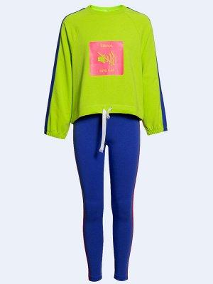 Костюм спортивный:свитшот и брюки полуприлегающие со средней посадкой