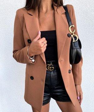 Женский пиджак, цвет хаки