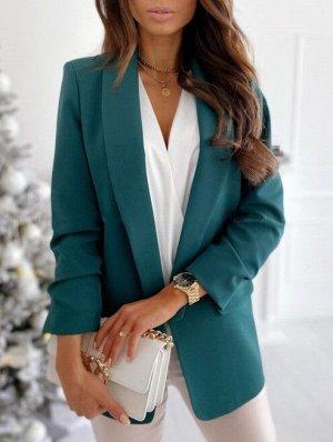 Женский пиджак, цвет зеленый
