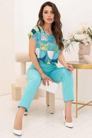 Костюм Шикарный костюм прекрасно впишется в Ваш базовый гардероб! Яркое сочетание цветов создаст по-настоящему летнее настроение! Комплект отлично комбинируется с другими вещами! * Женственная блуза в