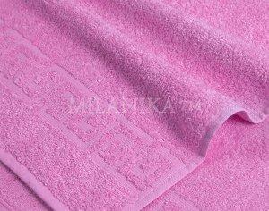 Сиреневое махровое полотенце