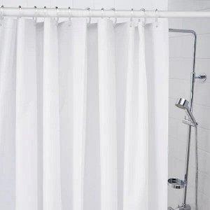 BJÄRSEN БЬЕРСЕН Штора для ванной, белый180x200 см