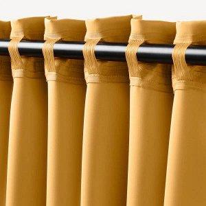 MAJGULL МАЙГУЛЛ Затемняющие гардины, 2 шт., желтый145x300 см