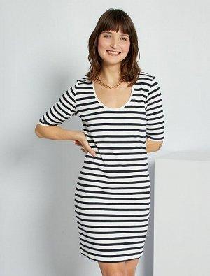 Платье в рубчик Eco-conception