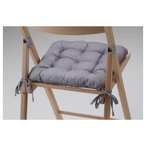 HELLVI ХЭЛЛЬВИ Подушка на стул, серый40x38x5.0 см