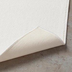 FINTSEN ФИНТСЕН Коврик для ванной, белый40x60 см Выходит из ассортимента