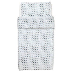 GULSPARV ГУЛСПАРВ Пододеяльник и наволочка д/кроватки, орнамент «черника»110x125/35x55 см