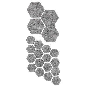 FIXA ФИКСА Наклейки на мебельные ножки, 20 шт, серый