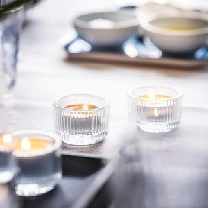 FINSMAK Подсвечник для греющей свечи, прозрачное стекло3.5 см
