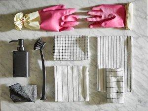 RINNIG РИННИГ Полотенце кухонное, белый/темно-серый/с рисунком45x60 см