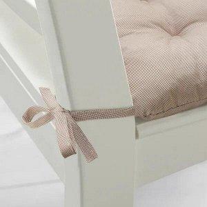 HELLVI ХЭЛЛЬВИ Подушка на стул, бежевый40x38x5.0 см