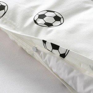 SPORTSLIG СПОРТСЛИГ Пододеяльник и наволочка, «футбольный мяч»150x200/50x70 см