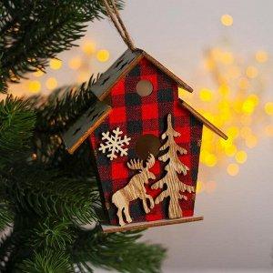 Новогодний декор с подсветкой «Домик сказка» 12?5.5?10 см