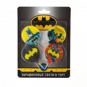 Свеча для торта Batman, 4 шт.