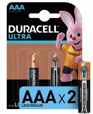 DURACELL Ultra Батарейки AAA 2шт