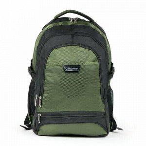 "Рюкзак для школы и офиса BRAUBERG ""StreetRacer 1"", 30 л, размер 48х34х18 см, ткань, черно-зеленый, 224449"