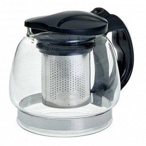 Заварочный чайник 850 мл с фильтром из нержавеющей стали AK-5527/25 черный