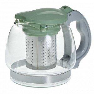 Заварочный чайник 850 мл с фильтром из нержавеющей стали AK-5527/3 зеленый
