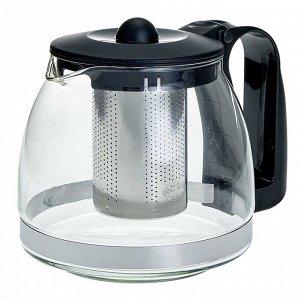 Заварочный чайник 1250 мл с фильтром из нержавеющей стали AK-5526/25 черный