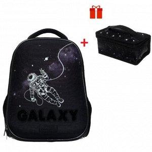 Рюкзак каркасный, Hatber, Ergonomic light ,38 х 29 х 15, EVA-материал, с термосумкой, Galaxy