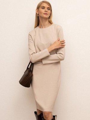 Приталенное платье PL1095/brule