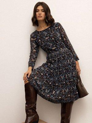 Шифоновое платье с плиссировкой PL1108/howes