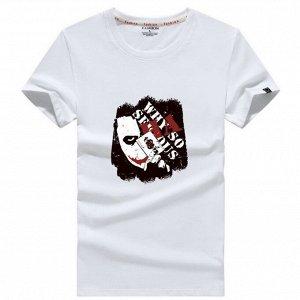 """Мужская футболка, принт """"Герой фильма и карта"""", с надписью, цвет белый"""