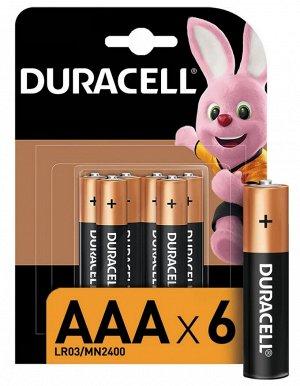 DURACELL Basic AAА Батарейки алкалиновые 1.5V LR03 6шт