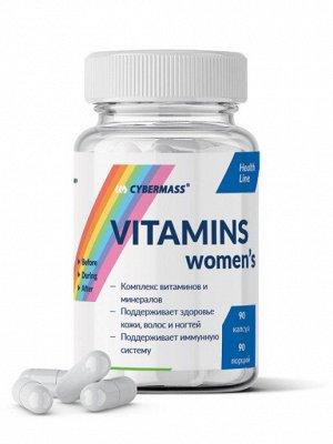 Витамины для женщин Vitamins womens Cybermass Сайбермасс 90 капс.