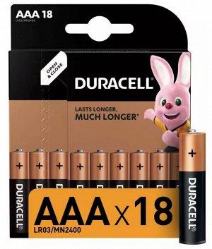 DURACELL Basic AAА Батарейки алкалиновые 1.5V LR03 18шт