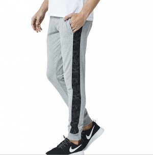 """Мужские штаны, принт""""Камуфляж"""" на лампасах, цвет серый"""
