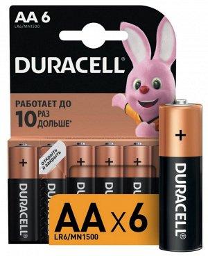 DURACELL Basic AA Батарейки алкалиновые 1.5V LR6 6шт
