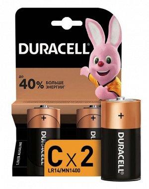 DURACELL Basic С Батарейки алкалиновые 1.5V LR14 2шт