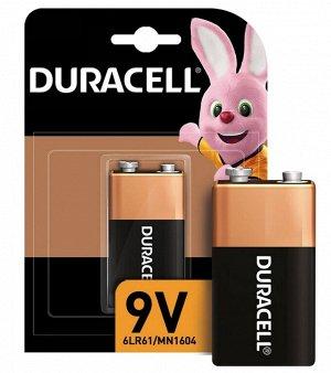 DURACELL Basic 9V Батарейка алкалиновая 9V 6LR61 1шт