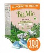 Таблетки д/посудомоечной машины BioMio с маслом эвкалипта 100 шт.