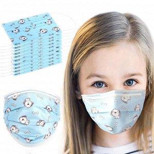 Маска защитная 3-слойная(детская)