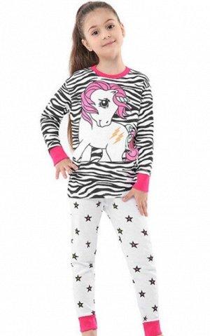 """Детская пижама (лонгслив + брюки) с принтом """"Единорог"""""""