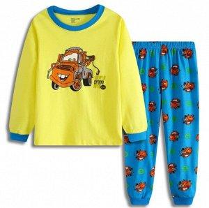 """Детская пижама (лонгслив + брюки) с принтом """"Машина"""""""