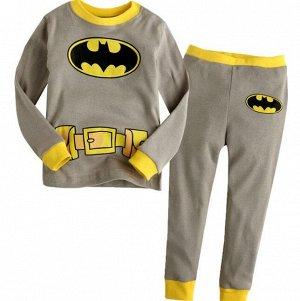 Детская пижама (лонгслив + брюки) с принтом