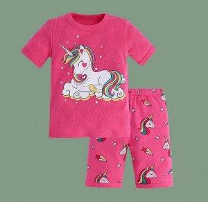 """Детская пижама, принт """"Единорог"""", цвет розовый"""
