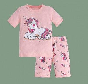 """Детская пижама, принт """"Единорог"""", цвет светло-розовый"""