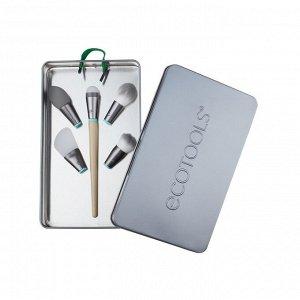 Набор аксессуаров и кистей для макияжа EcoTools Interchangeables Wake Up And Glow Brush Set