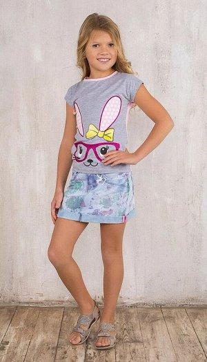 Юбка джинсовая для девочек Sweet  Berry 128-134рост